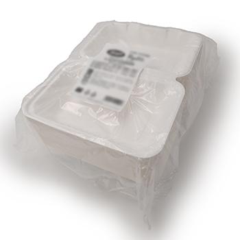30677 50 pz vassoi gastronomia clamshell 230x153x80 mm 1000 ml 30 g PULP bianco