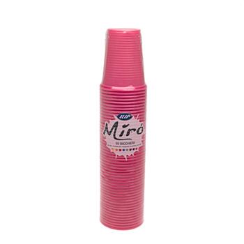 60435 50 pz bicchieri diam. 70 mm 200 ml 2,6 g PP rosa
