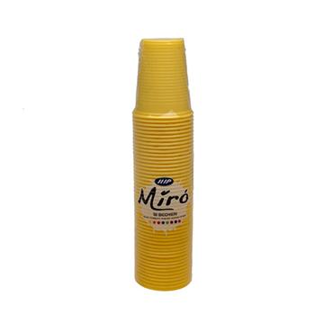 60441 50 pz bicchieri diam. 70 mm 200 ml 2,6 g PP giallo