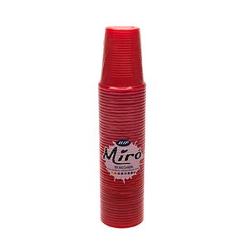60442 50 pz bicchieri diam. 70 mm 200 ml 2,6 g PP rosso
