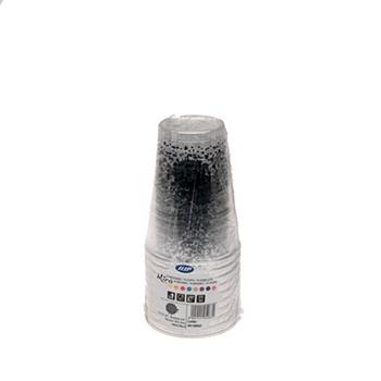60457 10 pz bicchieri diam. 72 mm 250 ml 6 g PS nero
