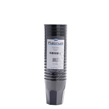 60660 20 pz bicchieri diam. 70 mm 250 ml 15,79 g PP nero