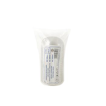 60865 50 pcs lid for cups diam. 89,5 mm 2,935 g PET transparent