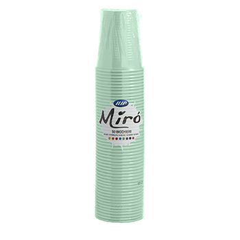 61036 50 pz bicchieri diam. 70 mm 200 ml 2,6 g PP verde