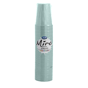 61037 50 pz bicchieri diam. 70 mm 200 ml 2,6 g PP azzurro