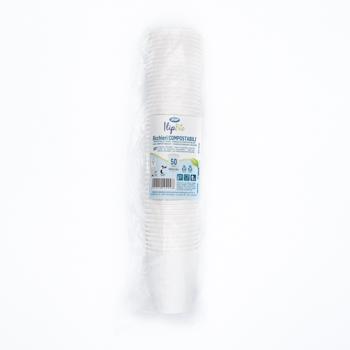 61456 50 pz bicchieri diam. 70,1 mm 180 ml 4,4 g NC bianco