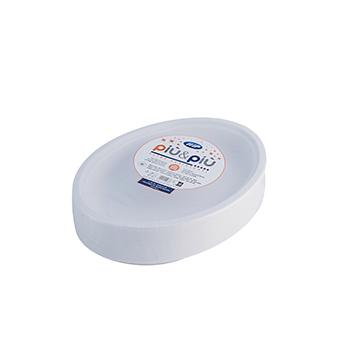 70177 50 pcs oval deep plates 260x190x35 mm 16 g PP white