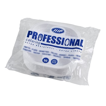 70400 50 pcs heat sealable trays 180x180x25 mm 450 ml 11,5 g PP white