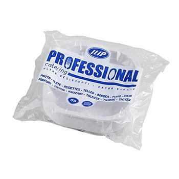 Confezione di 50 pz piatti fondi quadrati 180x180x35 mm 11,5 g PP bianco