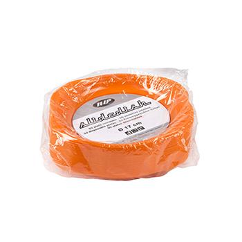 70498 50 pz piattini dessert slidedish diam. 165 mm 5 g PS arancione