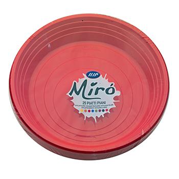 70506 25 pz piatti piani diam. 210 mm 11 g PS rosso