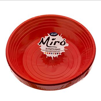70531 25 pz piatti fondi diam. 210 mm 11 g PS rosso
