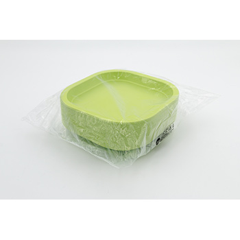 70980 50 pcs square flat plates 180x180x25 mm 11,5 g PP green