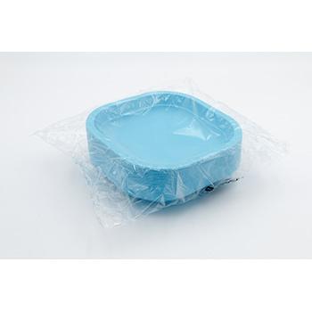 70983 50 pz piatti piani quadrati 180x180x25 mm 11,5 g PPC azzurro