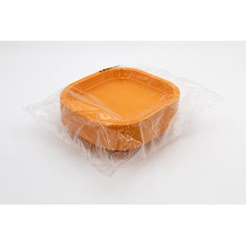 70984 50 pcs square flat plates 180x180x25 mm 11,5 g PP orange