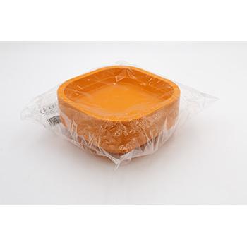 70990 50 pz piatti fondi quadrati 180x180x35 mm 13,5 g PPC arancione
