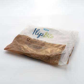 Paquete de 12 pzs platos llanos diam. 210 mm 16 g MATER-BI blanco