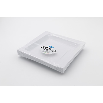 71090 20 pz piatti piani quadratim 208x208x18 mm 18 g PS bianco