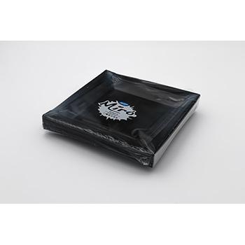 71103 20 pcs assiettes carrées plates 208x208x18 mm 18 g PS noir