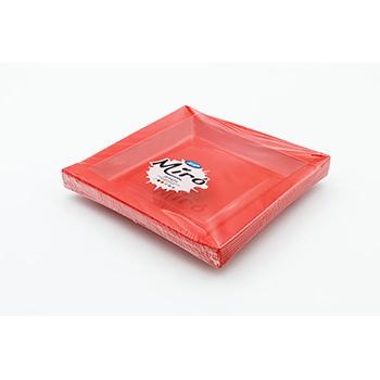 71104 20 pz piatti piani quadratim 208x208x18 mm 18 g PS rosso