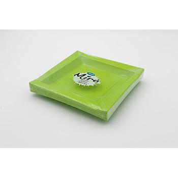 71105 20 pz piatti piani quadratim 208x208x18 mm 18 g PS verde