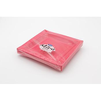 71107 20 pz piatti piani quadratim 208x208x18 mm 18 g PS rosa
