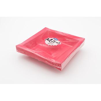 71112 20 pz piatti fondi quadrati 208x208x33 mm 18 g PS rosa