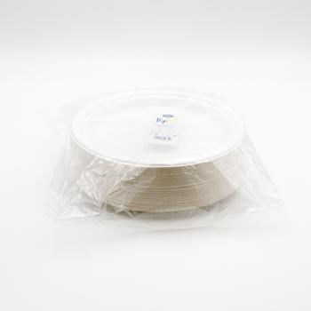 71124 50 pcs assiettes plates diam. 220 mm 14 g POLPA DI CELLULOSA blanc