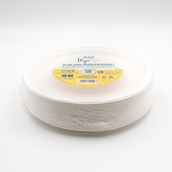 71186 50 pzs platos llanos diam. 260 mm 20 g PULP blanco