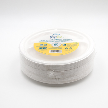 71202 50 pcs diam. 26 cm 15 g POLPA DI CELLULOSA blanc