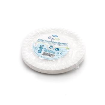 71250 20 pzs platos de postre diam. 17,5 cm 7,35 g NC blanco