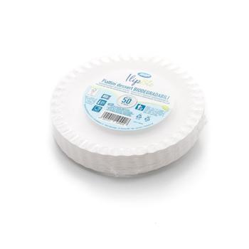 71253 50 pzs platos de postre diam. 17,5 cm 7,351 g NC blanco