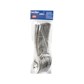 80192 10 pz cucchiai 190 mm 6,7 g PS argento