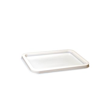100 pcs lids for deli-food containers 130x96x6 mm 3,2 g PS white