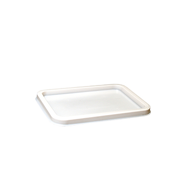 100 pcs lids for deli-food containers 157x113x6 mm 4,5 g PS white 4,500g