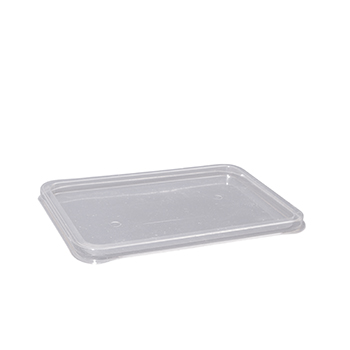 100 pcs lids for deli-food containers 157x113x6 mm 5 g RPET transparent a 5g