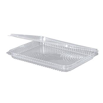 30091 25 pz vassoi gastronomia clamshell 217x167x21 mm 570 ml 20 g RPET trasparente a 20g