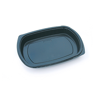 30122 50 pcs deli-food containers 240x150x45 mm 650 ml 17,9 g PP black