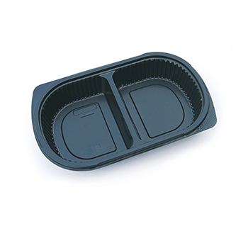 30123 50 pcs deli-food containers 240x155x40 mm 650 ml 18,8 g PP black