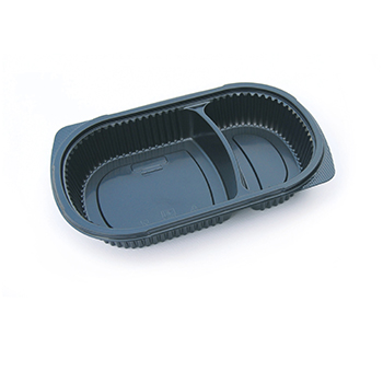 30124 50 pcs deli-food containers 240x155x40 mm 650 ml 18,8 g PP black