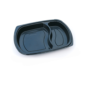30126 50 pcs deli-food containers 255x185x35 mm 800 ml 25,8 g PP black