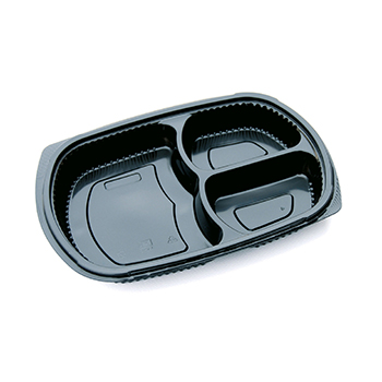 30127 50 pcs deli-food containers 255x185x35 mm 800 ml 25,8 g PP black