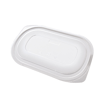 50 pcs lids for deli-food containers 240x155x5 mm 14,9 g PP transparent 14,900g