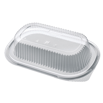 50 pcs lids for deli-food containers 240x155x45 mm 16,4 g PP transparent 16,400g