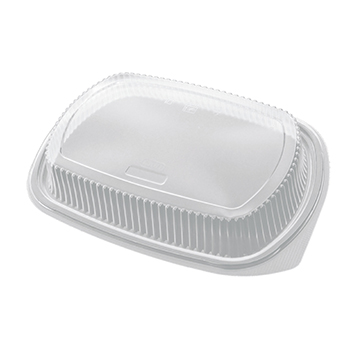 50 pcs lids for deli-food containers 255x185x35 mm 22,8 g PP transparent 22,800g