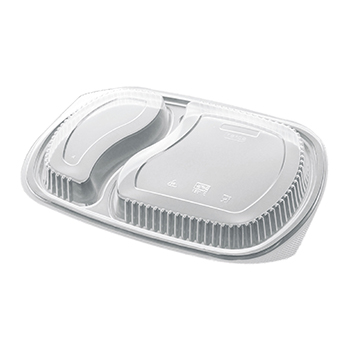 50 pcs lids for deli-food containers 255x185x25 mm 22,8 g PP transparent 22,800g