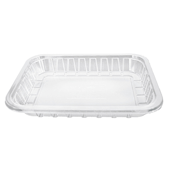 30153 240 pcs deli-food containers 160x116x22 mm 250 ml 9 g PLA transparent
