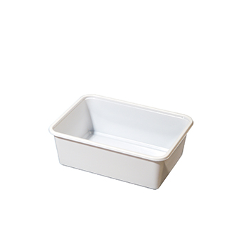 30221 100 pcs deli-food containers 152x108x55 mm 648 ml 10 g PP white