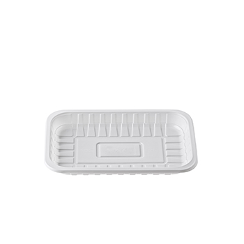 30222 200 pz vassoi gastronomia 230x157x23 mm 600 ml 15,6 g PS bianco 15,600g