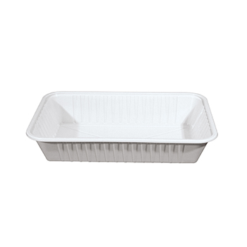 30251 80 pz vassoi gastronomia 272x185x48 mm 1750 ml 39 g PS bianco 39g